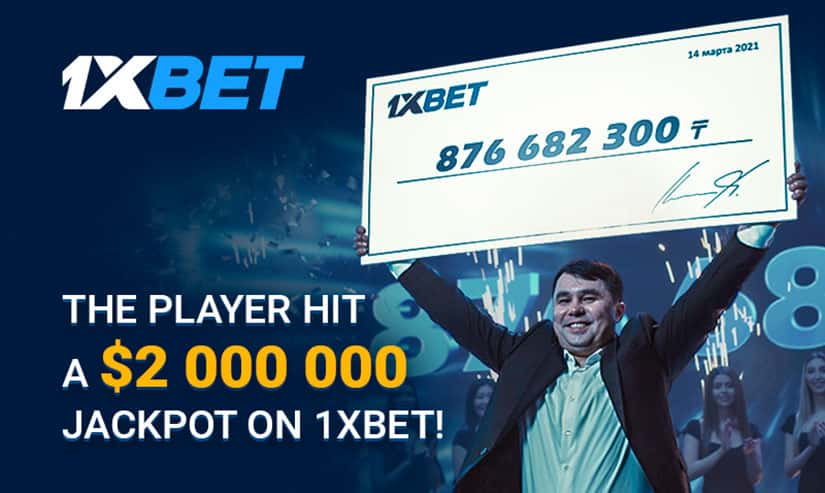 1xBet player wins over $2 million